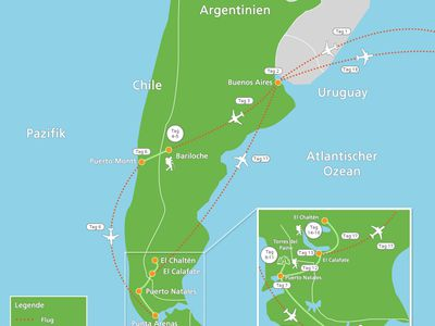 reiseroute argentinien chile aktivfit