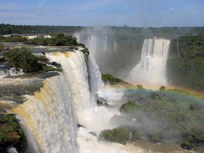 Argentinien Foz do Iguazu Blick auf Argentinische Seite