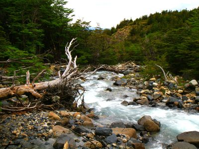 chile torres del paine fluss