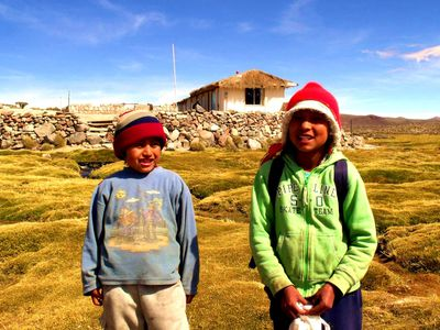 Chile Lauca Nationalpark Kinder