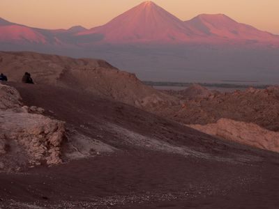 Chile Atacama Mondtal Sonnenuntergang