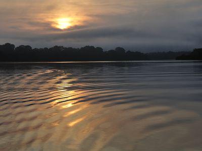 Kolumbien Amazonas Sonnenuntergang