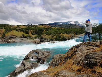 Chile Mietwagenreise Zusammenfluß Rio Baker & Rio Neff Beobachtung