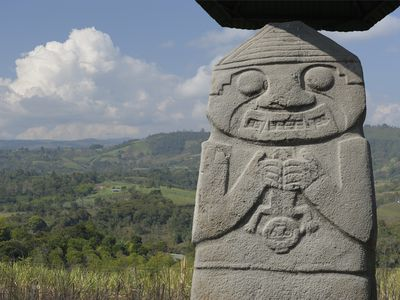 Kolumbien San Agustin Parque Archeologico