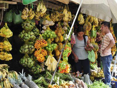 Kolumbien Amazonas Bunter Markt