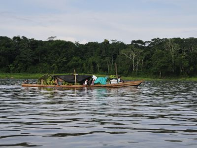 Kolumbien Amazonas Kanufahrt