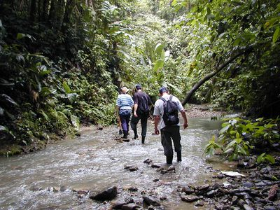 Costa Rica Selva Bananito Lodge Flusswanderung