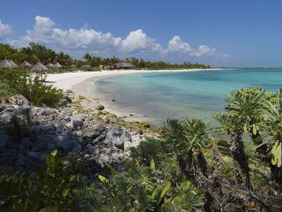 Mexiko Xpu Ha Strand