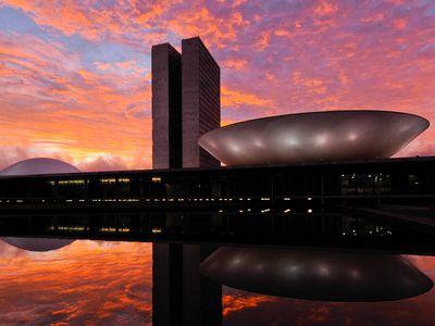 Brasilien Brasilia Sonnenuntergang
