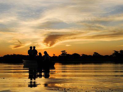Brasilien Pantanal Sonnenuntergang