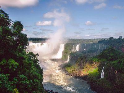 Brasilien Iguazu Wasserfaelle 4