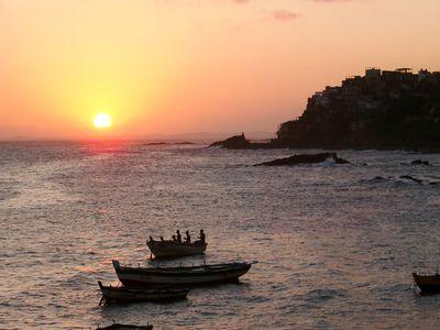 Brasilien Salvador Sonnenuntergang