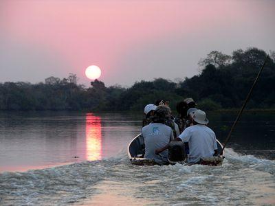 Brasilien Süd Pantanal Sonnenuntergang