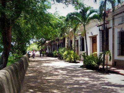 kolumbien mompox grün straße