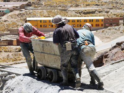 Bol lapaz bergewerksarbeiter
