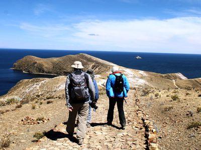 Bolivien Isla del Sol Wanderung