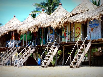 Mexiko Puerto Escondido Strandhäuschen