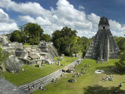 Guatemala Flores Tikal Ansicht