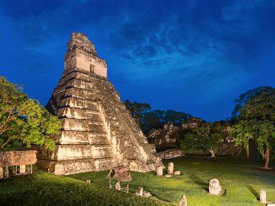 Guatemala Tikal Nacht