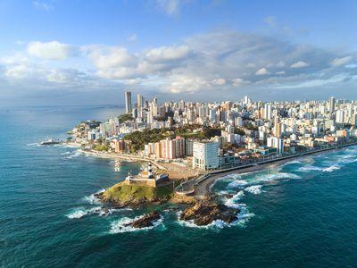 Brasilien Salvador da Bahia Luftaufnahme