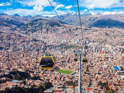 Bolivien La Paz Seilbahn
