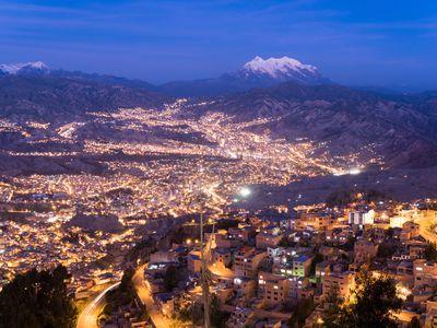 Bolivien La Paz Stadt