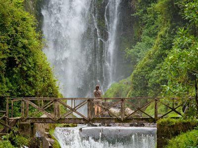 Ecuador Amazonas Regenwald Wasserfall