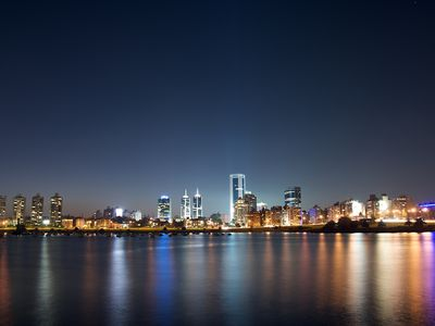 Uruguay Montevideo bei Nacht