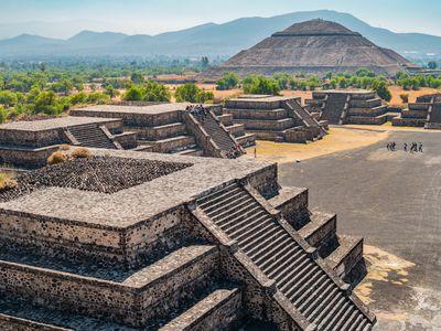 Mexiko Teotihuacan Azteken Stätte