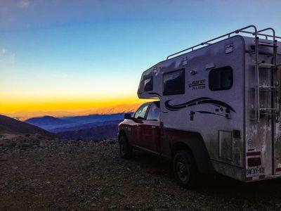 Chile El Colorado Camper Sonnenuntergang Camperreise