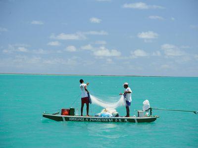 Brasilien Einheimische unterwegs mit dem Boot