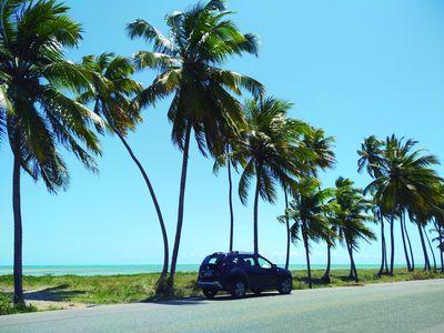 Brasilien Nordosten Mietwagen am Strand