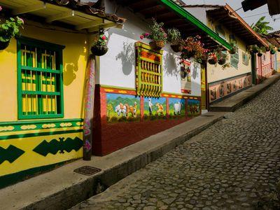 Kolumbien Guatapé Häuser