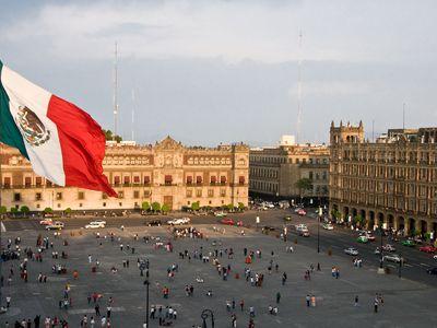 Mexiko Mexiko Stadt Zócalo