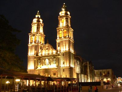 Mexiko Campeche bei Nacht