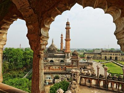 Indien Lucknow Bara Imambara abseits Pfade