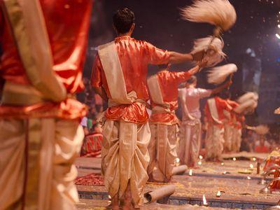 Indien Varanasi Evening Aarti Zeremonie toll Erlebnis einmalig Reise