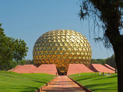 Indien Puducherry Auroville Zukunftsstadt interessant