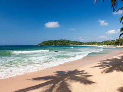 Sri Lanka Mirissa Palmen Strand Badeort