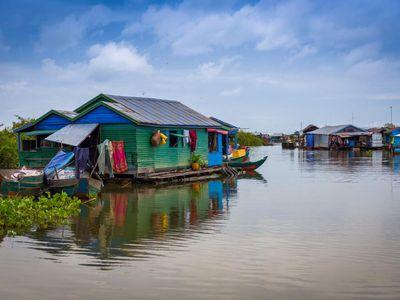 Kambodscha Tonle Sap See Boot Tour