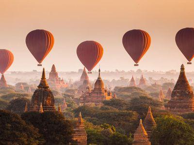 Myanmar Bagan Ballonfahrt Erlebnis einmalig