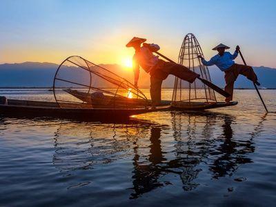 Myanmar Inle See Fischer Intha Begegnung