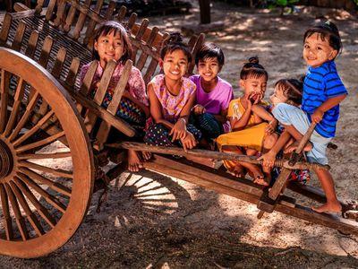 Myanmar Kinder Einheimische