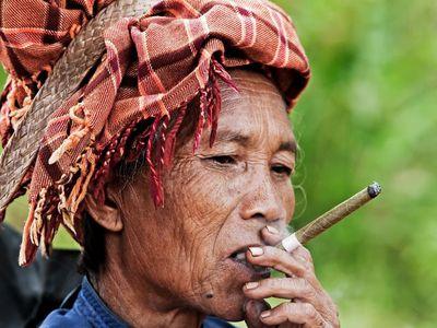 Myanmar Tribal Einheimische