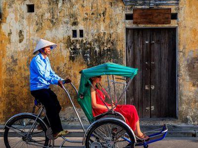 Vietnam Hue Cyclo Rikscha Fahrrad Tour