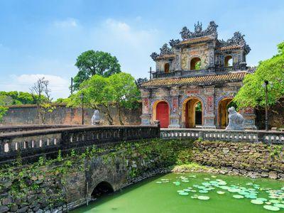 Vietnam Hue Imperial Citadel Eingang Besichtigung