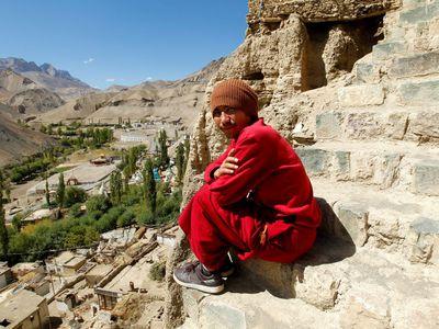 Indien Ladakh Monk