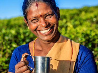 Sri Lanka Tamil Frau Ceylon Tee