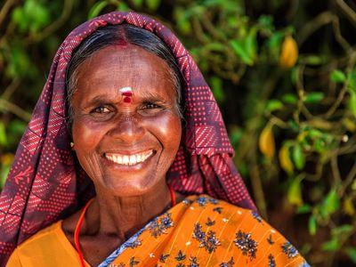 Indien tamilische Frau Teeplantage einheimische