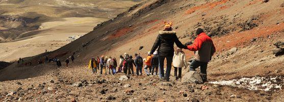 Wanderung auf dem Cotopaxi Vulkan, Ecuador